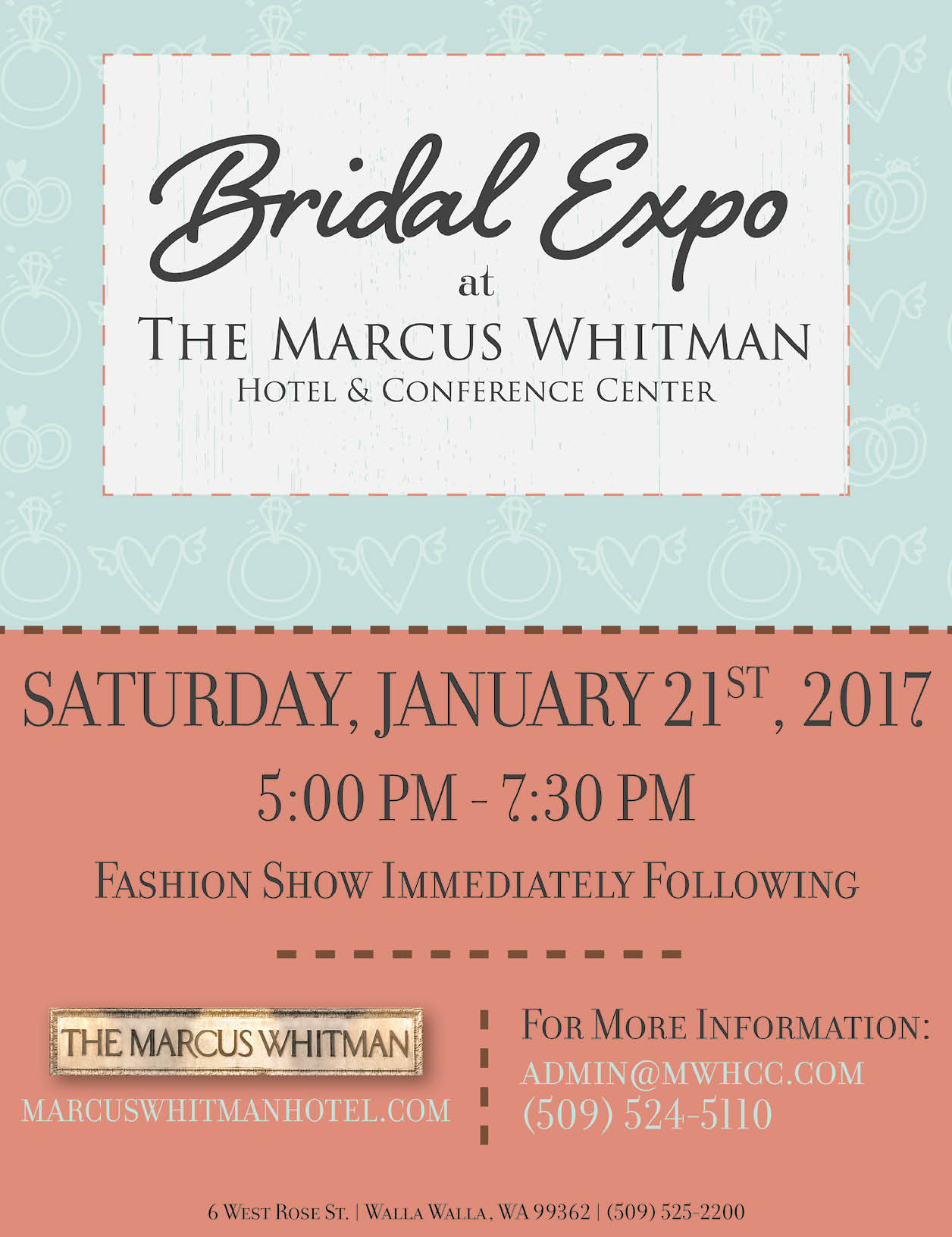 2017 Marcus Whitman Bridal Expo WRG